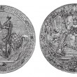 Great Seal of England by Queen Victoria vintage engraving. — Stock Vector #6711315