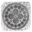 Royalty-Free Stock Vector Image: Dean\'s eye rose window in the North Transept of Lincoln Cathedra