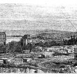 Постер, плакат: Ruins at Baalbek Ancient Babylon vintage engraving