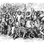 Bacchanalia, a wild and mystic festivals of the Greco-Roman god — Stock Vector