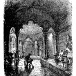 Vector de stock : Turkish Bath vintage engraving.