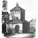 Baptistry of Novara vintage engraving — Stock Vector