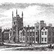 Queen's University in Belfast,Ireland, vintage engraving from th - Stock Vector