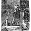 Church of the Nativity, Bethlehem, Israel, vintage engraving. — Stock Vector #6718523