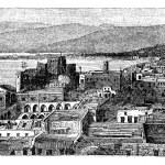 Beirut city, Lebanon, vintage engraving. — Stock Vector #6718540