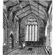 Cotton Chapel, Saint Botolph's Church vintage engraving - Stock Vector