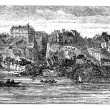 Old Breisach, Germany, vintage engraving from 1890s. — Stock Vector #6719498