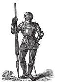 Armatura di Enrico vii, re d'Inghilterra, vecchia incisione — Vettoriale Stock