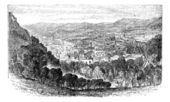 The City of Bath, Somerset, England, vintage engraving. — Stock Vector