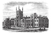 Queen's University in Belfast,Ireland, vintage engraving from th — Stock Vector