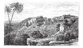 Bethlehem, city, Palestine, Israel, vintage engraving. — Stock Vector