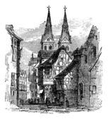Boppard town, Rhein-Hunsruck-Kreis, Rhineland-Palatinate, German — Stock Vector