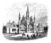 ブルックリン、アメリカ合衆国でのグリーンウッドの墓地の入り口です。v — ストックベクタ