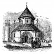 Church of the Holy Sepulchre, Cambridge, United Kingdom, vintage - Stock vektor