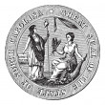 Great seal or hallmark of North Carolina vintage engraving — Stock Vector #6720978