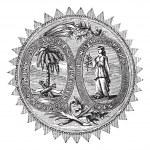 Great seal or hallmark of South Carolina vintage engraving — Stock Vector #6720994