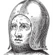 Sallet or Schaller vintage engraving — Vector de stock