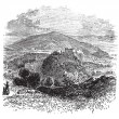 Countryside view of Castellammare di Stabia vintage engraving — Stock Vector #6721243