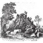 The castillo at Chichen Itza vintage engraving — Stock Vector