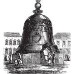 Tsar Bell or Tsarsky Kolokol or Tsar Kolokol III or Royal Bell, — Stock Vector