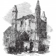 Colchester Abbey, in Essex, England, vintage engraving — Image vectorielle