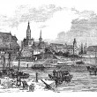 Konstanz in Baden-Wurttemberg, Germany, vintage engraving — Stock Vector #6727476