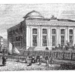 Thorvaldsen Museum in Copenhagen, Denmark, vintage engraving — Stock Vector #6727875