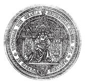 Great Seal Of Canada vintage engraving — Cтоковый вектор