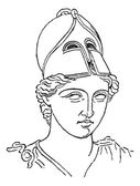 Greek Centurion brush helmet or galea vintage engraving — Stock Vector