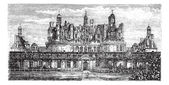 Chateau de Chambord, Loire Valley, France vintage engraving — Stock Vector