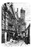 Palais de stanley, à chester, cheshire, royaume-uni, au cours de la — Vecteur