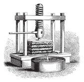 Apfelwein presse vintage gravur — Stockvektor