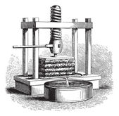 Cider Press vintage engraving — Stok Vektör