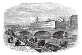 Cork in Munster, Ireland, vintage engraving — Stock Vector