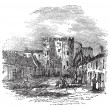 Drogheda in Leinster, Ireland, vintage engraving — Stock Vector