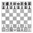 Chess, vintage engraving - Stock Vector