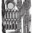 Elgin Cathedral in Moray, Scotland, vintage engraving — Stock Vector #6745541