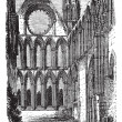Elgin Cathedral in Moray, Scotland, vintage engraving - Stock Vector