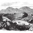 Ephesus in Izmir, Turkey, vintage engraving — Vettoriali Stock