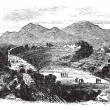 Ephesus in Izmir, Turkey, vintage engraving — Stock vektor