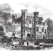 Battle Abbey, Hastings, East Sussex, England vintage engraving — Stock Vector #6747525
