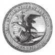 Great Seal of the State of Illinois  USA vintage engraving - Stock Vector