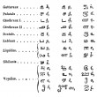 Tamil language Alphabets vintage engraving — ストックベクタ #6748009