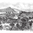 Inverness in Scotland vintage engraving — Stock vektor #6748026