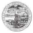 great seal of the state of iowa usa vintage engraving — Stock Vector #6748037