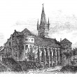 Vector de stock : Koenigsberg Cathedral vintage engraving