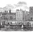 Lambeth Palace, London vintage engraving - Stock Vector