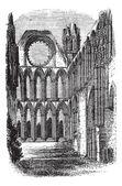 Catedral de elgin en grabado vintage moray, escocia — Vector de stock
