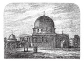 Dome of the Rock in Jerusalem Israel vintage engraving — Stock Vector