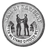 Seal of the State Kentucky vintage engraving — Stok Vektör